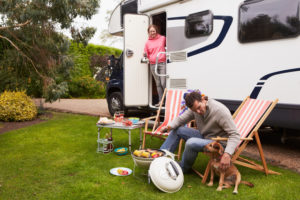 Family Enjoying an RV because they have RV insurance
